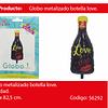 Globo Botella Love 38.5x82.5cm