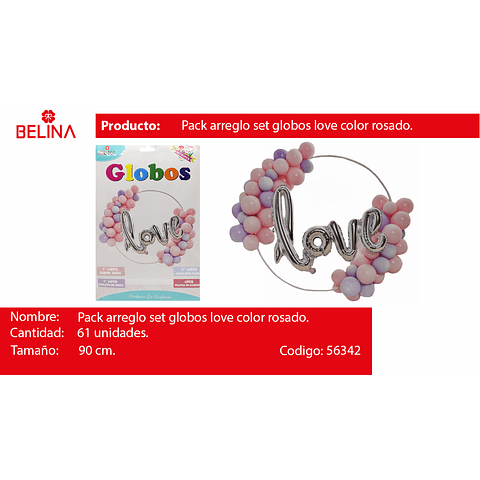 Arco De Globos Love Rosado