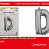 Globo Letra D Plata 16 Pulgadas