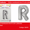 Globo Letra R Plata 16 Pulgadas