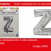 Globo Letra Z Plata 16 Pulgadas