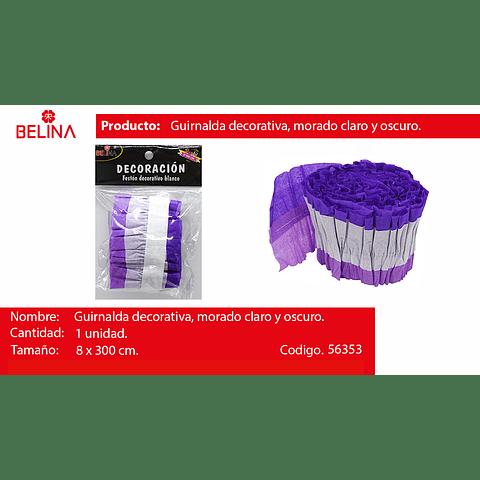 Feston Decorativo Morado/Blanco 8x300cm 1pcs