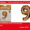 Globo Número 9 Oro Rosa 40 Pulgadas