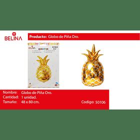 Globo piña oro 31.5