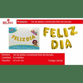 FELIZ DIA DORADO 8PCS 16