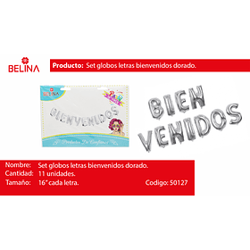 BIENVENIDOS PLATEADO 11PCS 16