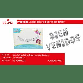 Globo Bienvenidos Plateado 11pcs 16 Pulgadas