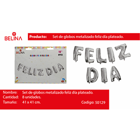 Globo feliz dia plata 16 pulgadas