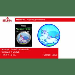 Sticker redondo unicornio