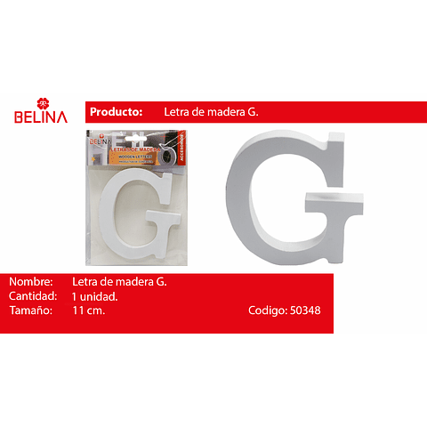 Letra de madera g