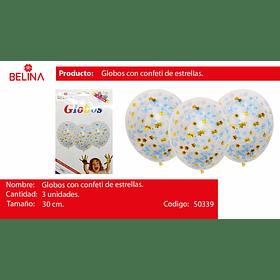 Globo confeti estrella azul