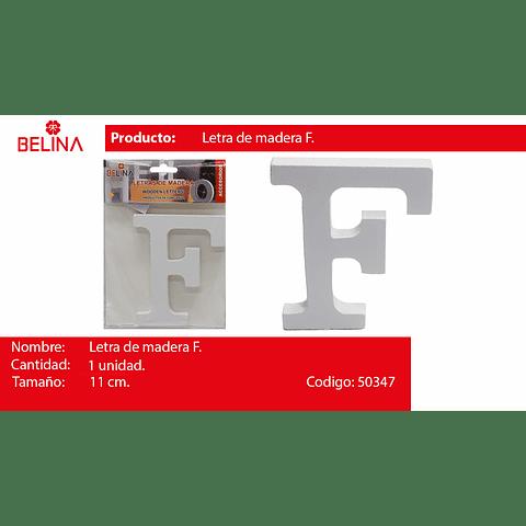 Letra de madera f