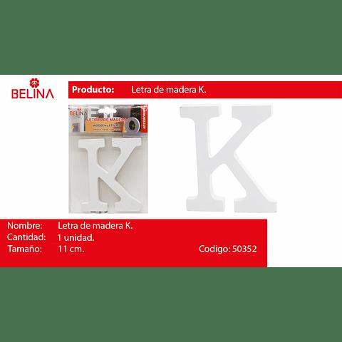 Letra de madera k