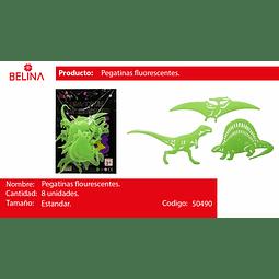 Sticker fluor de dinosaurio
