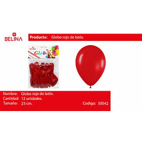 Globo rojo 12 unid