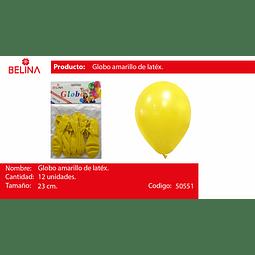 Globo amarillo 12 unid