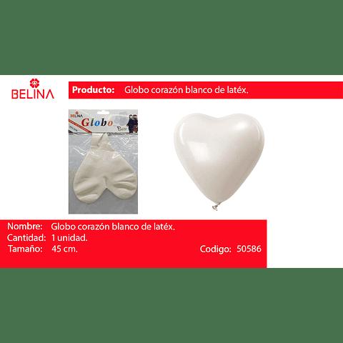 Globo corazon blanco 45cm