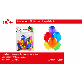Globos de latex surtidos 100pcs