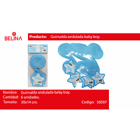 Guirnalda espiral azul
