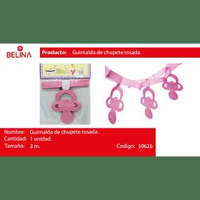 Guirnalda de chupete rosa