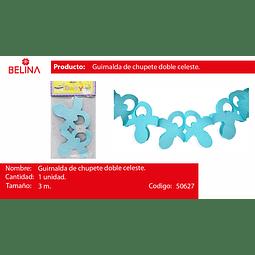 Guirnalda de chupete doble azul