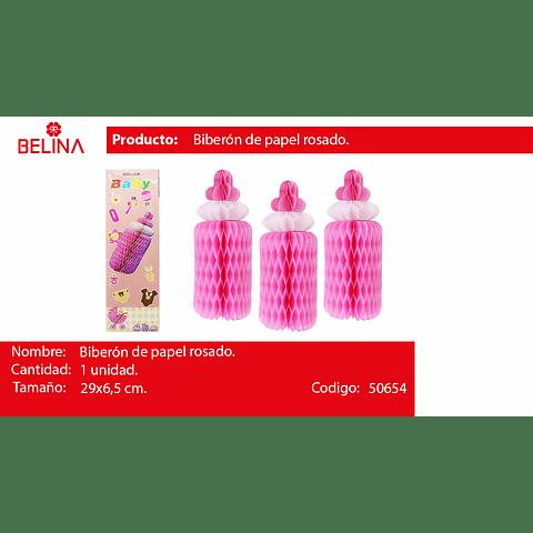 Biberon de papel rosa