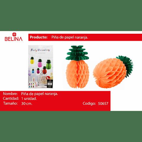 Piña de papel naranja