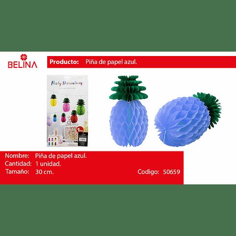 Piña De Papel Celeste