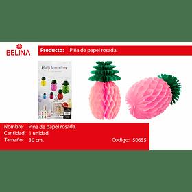 Piña de papel rosa