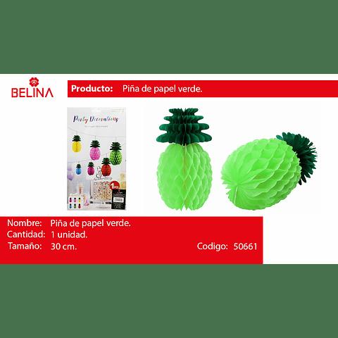 Piña de papel verde