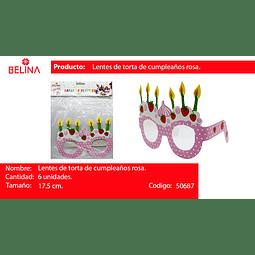 LENTES DE CARTON FRESA