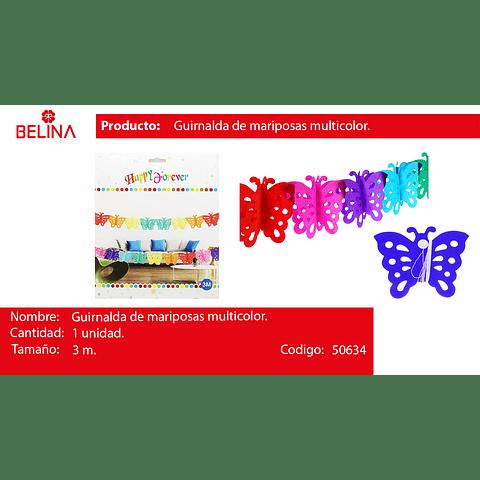 Guirnalda de mariposas multicolor