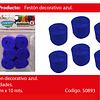 Feston Fino Azul 6pcs 2.5cmx10m