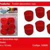 Feston fino rojo 6pcs 2.5cmx10m