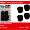 Feston fino negro 6pcs 2.5cmx10m