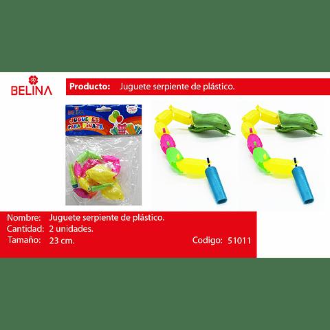 Juguete serpientes de plastico