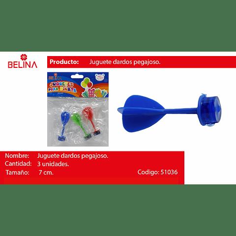 Juguete dardos de plastico