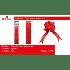 Cinta de regalo 3cm rojo