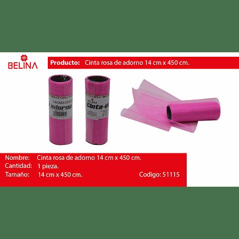Rollo de tul 14cm rosa