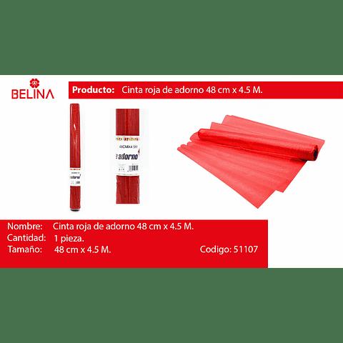 Rollo De Tul 48cm Rojo