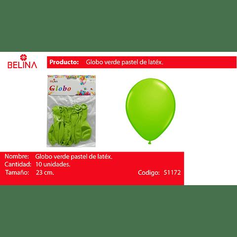 Globo Pastel 10unid Verde