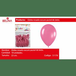 Globo pastel fuccia 10unid