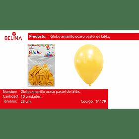 Globo pastel 10unid mostaza