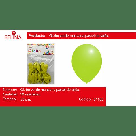 Globo Pastel 10unid Verde Manzana