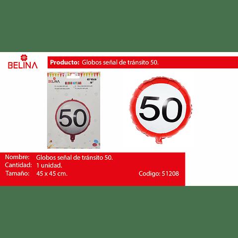 Globo rojo con blanco #50
