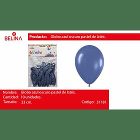Globo pastel 10unid azul