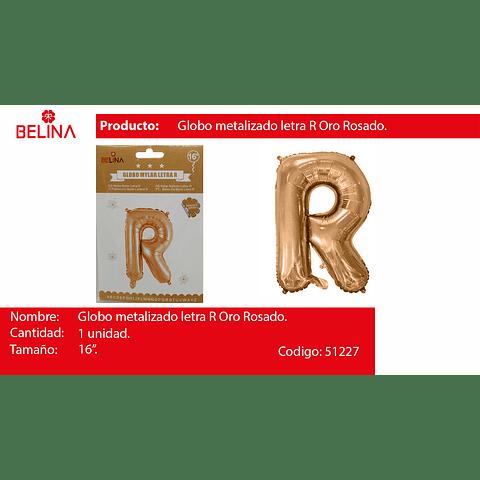 Globo letra R oro rosa 16 pulgadas