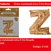 Globo Letra Z Oro Rosa 16 Pulgadas