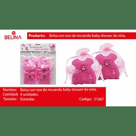Cesta para dulces rosa