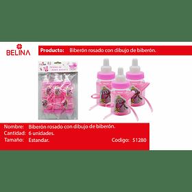 Biberones con adorno rosa